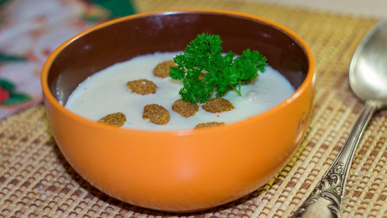 суп пюре из цветной капусты и тыквы со сливками