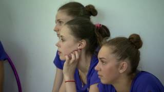 Художественная гимнастика. Анна Ризатдинова, лента, булавы. Открытая тренировка 16/07/2016