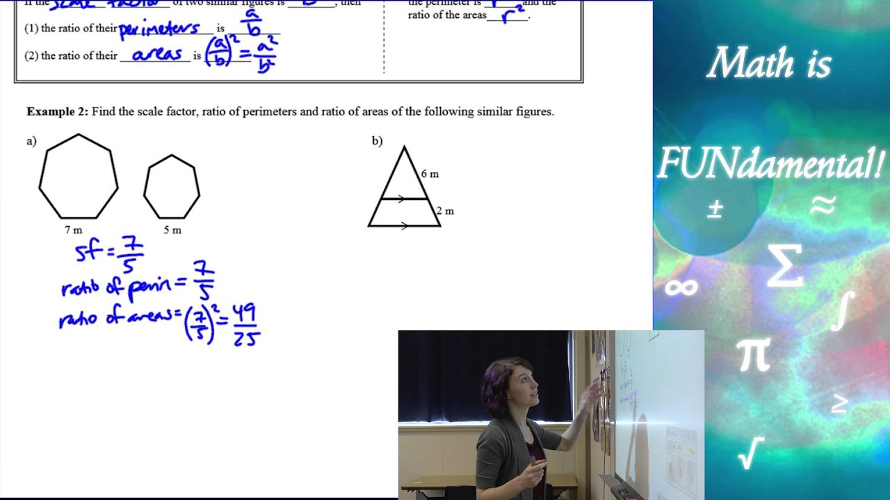 104 Geometry Perimeters And Areas Of Similar Figures Youtube