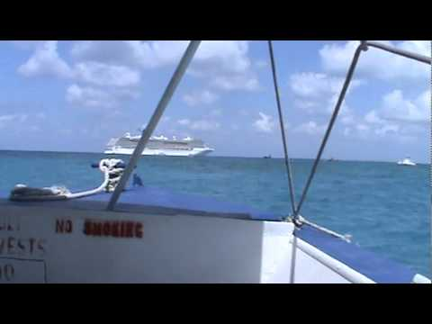 Tendering to Legend from Grand Cayman in rough seas