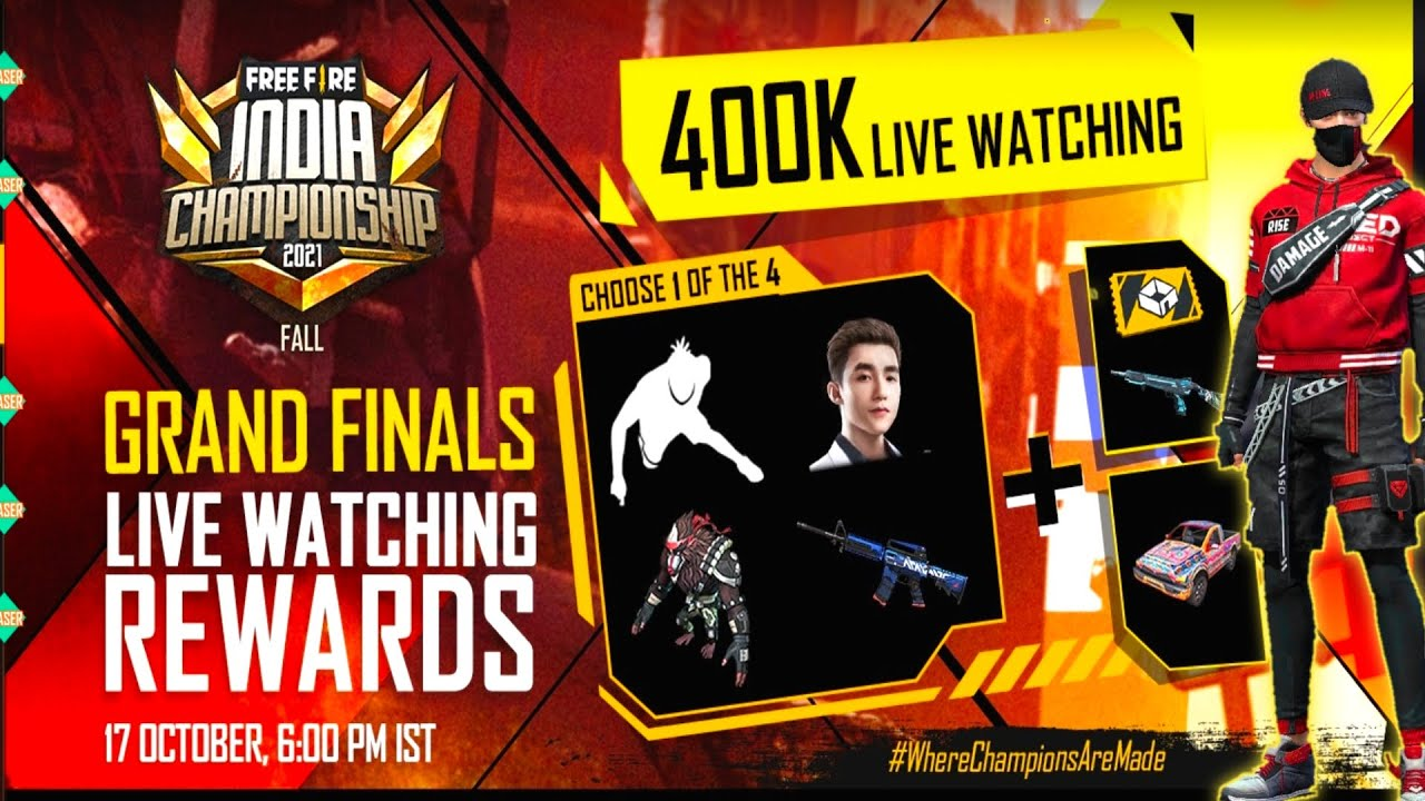 FFIC Live Watching Rewards 2021    FFIC Live Watching Redeem Code   Crimson Parkour Bundel Event