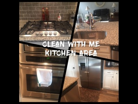 Clean With Me Part 2 Kitchen Area