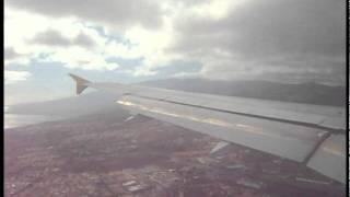 Aterrizaje en Tenerife Norte (Vueling)