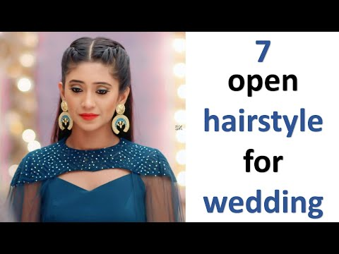 7 open hairstyle for wedding || cute hairstyle || hairstyle for kurti || easy hairstyle || hairstyle