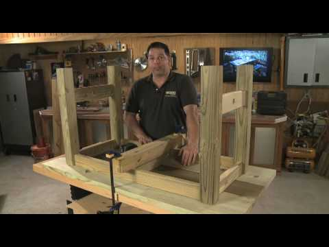 Southern Pine Picnic Table Project - YouTube