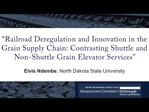 "Elvis Ndembe presents ""Railroad Deregulation and Innovation in the Grain Supply Chain"""