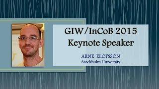 GIW/InCoB 2015 Keynote Speaker: Arne Elofsson