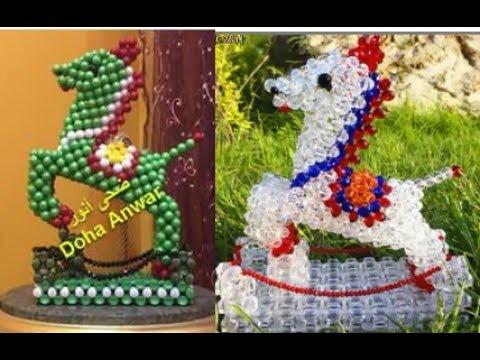 حصان السباق والحواجز beaded horse فيديو صيني )Doha Anwar