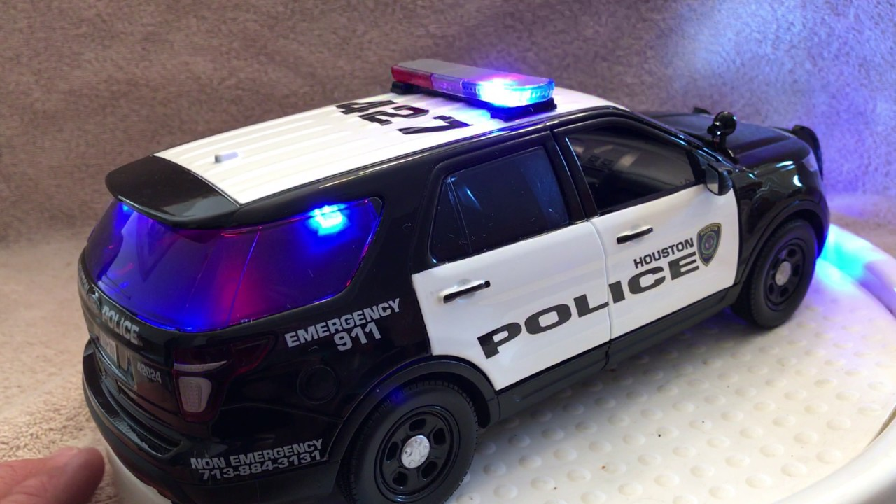 1 18 Scale Houston Texas Ford Suv Diecast Police Car Model