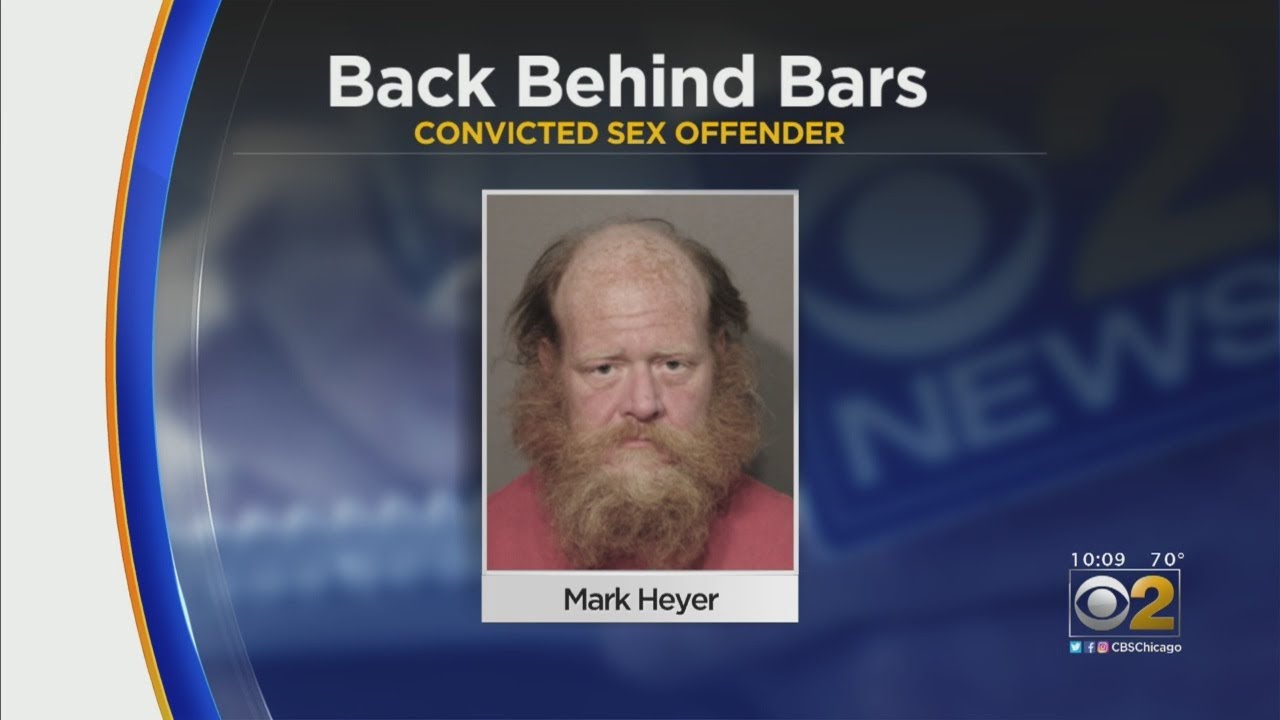 White Convicted Sex Offender Back Behind Bars