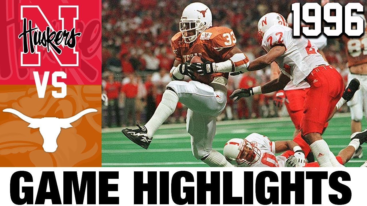 Texas vs Nebraska 1996 Big 12 Championship Highlights