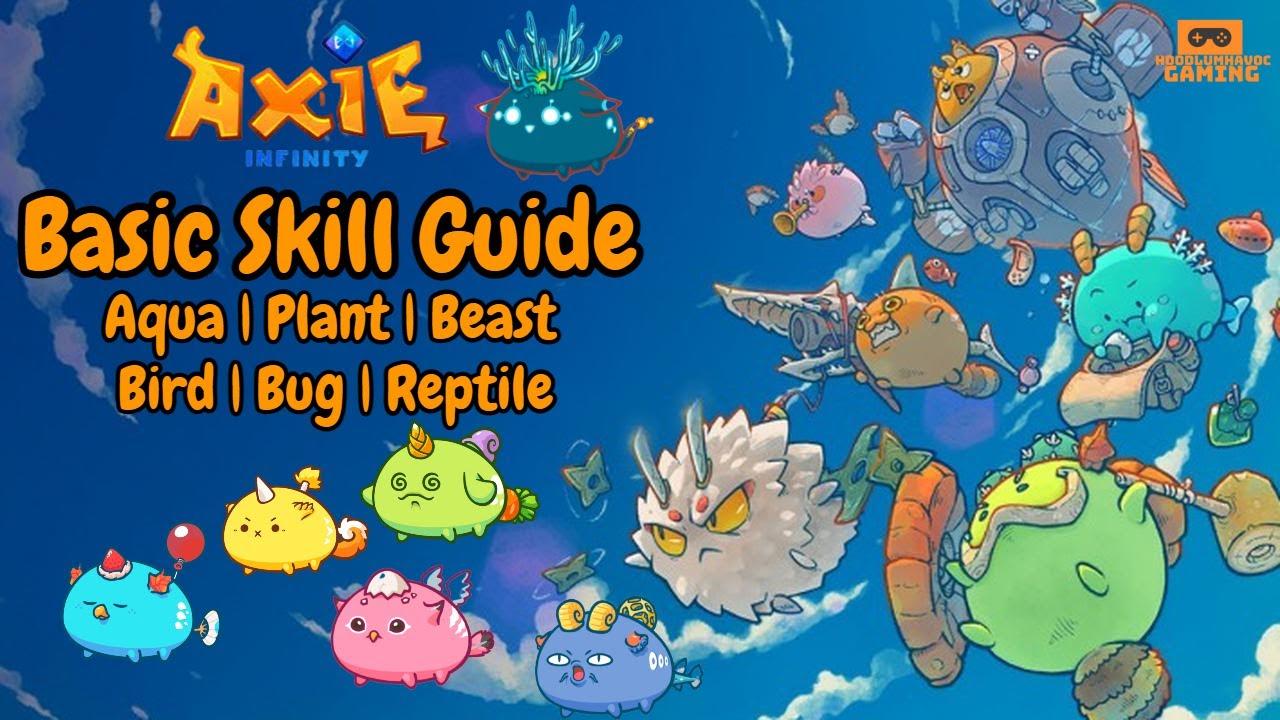 Axie Infinity   Basic Skill Guide For Aqua - Plant - Beast - Bird - Bug - Reptile Axies!