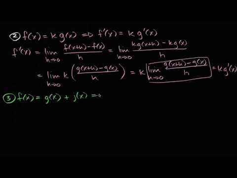 Derivative of multiplication by constant and sums and differences