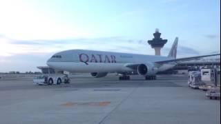 Qatar Airways QR708 landed at Dulles International Airport