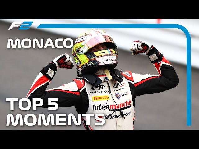 Last Lap Overtake, Youngest Winner And The Top 5 F2 Moments   2021 Monaco Grand Prix