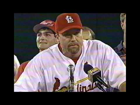 Mark McGwire post game speech after 62nd HR