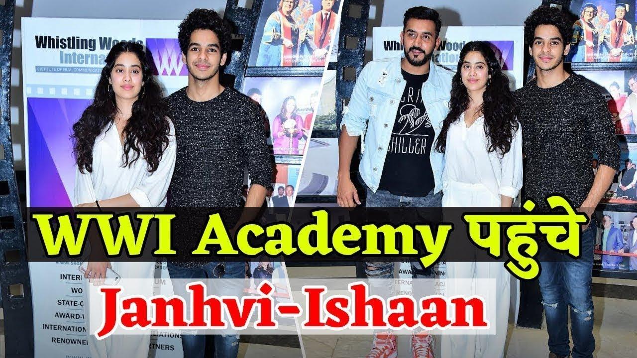 Janhvi Kapoor Ishaan Khatter And Shashank Khaitan At Whistling Woods International Ulala Youtube