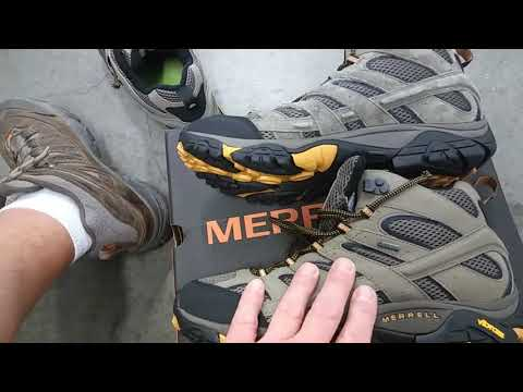 merrell Moab 2 mid Hiking Boots for Bicycle Touring or Bikepacking