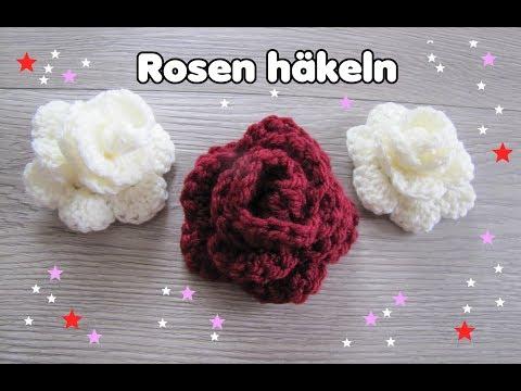 Wunderschöne ROSE häkeln - super einfach! *Carolines Welt* - Самые ...