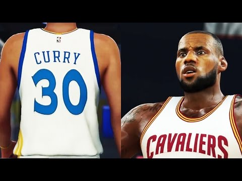 NBA 2K17 Gameplay - Stephen Curry vs. LeBron!! Golden State Warriors vs. Cleveland Cavaliers!! (PS4)