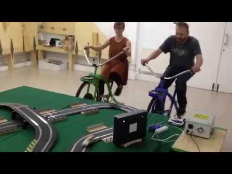 Electricity Generating Bikes – Scalextric Racing!