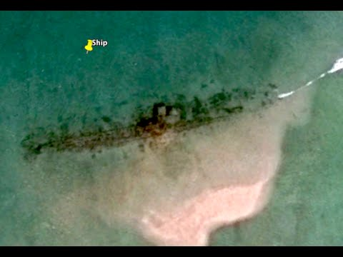 Battleship or submarine found 100 meters long on island, June 2016, Video, UFO Sighting Daily.