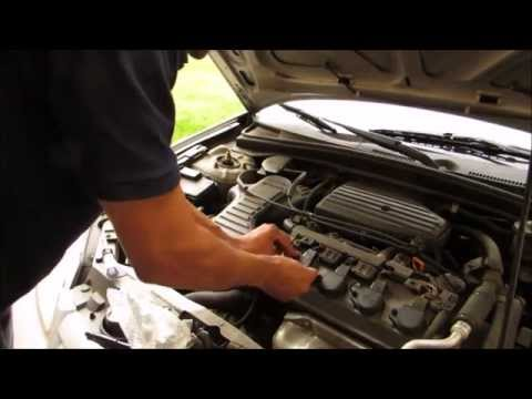 how to replace install ignition coil honda civic 01 05 1. Black Bedroom Furniture Sets. Home Design Ideas