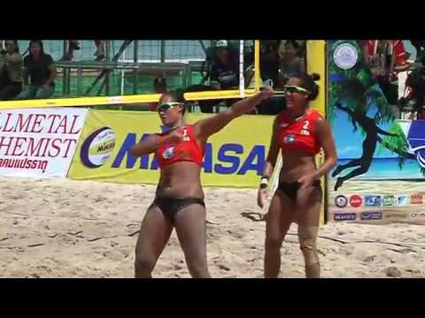 HL วอลเลย์บอลชายหาด SMM AVC Bech Tour 2018 ครั้งที่ 19 สมิหลา หญิง รอบรอง ไทย1 พบ ออสเตรเลีย