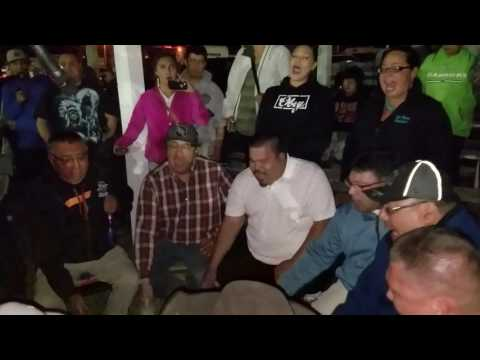 Blackfoot Confederacy Singers Friday night session Rocky Boy Powwow 2016