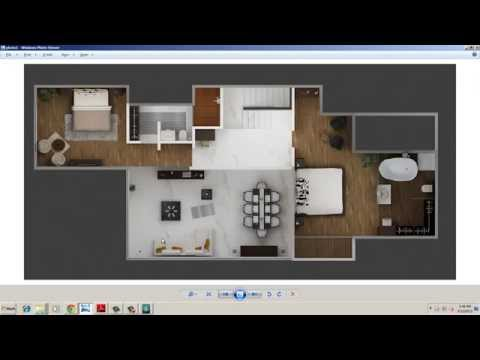 3D Plan Designing and Rendering with 3D Studio Max Part 06-B