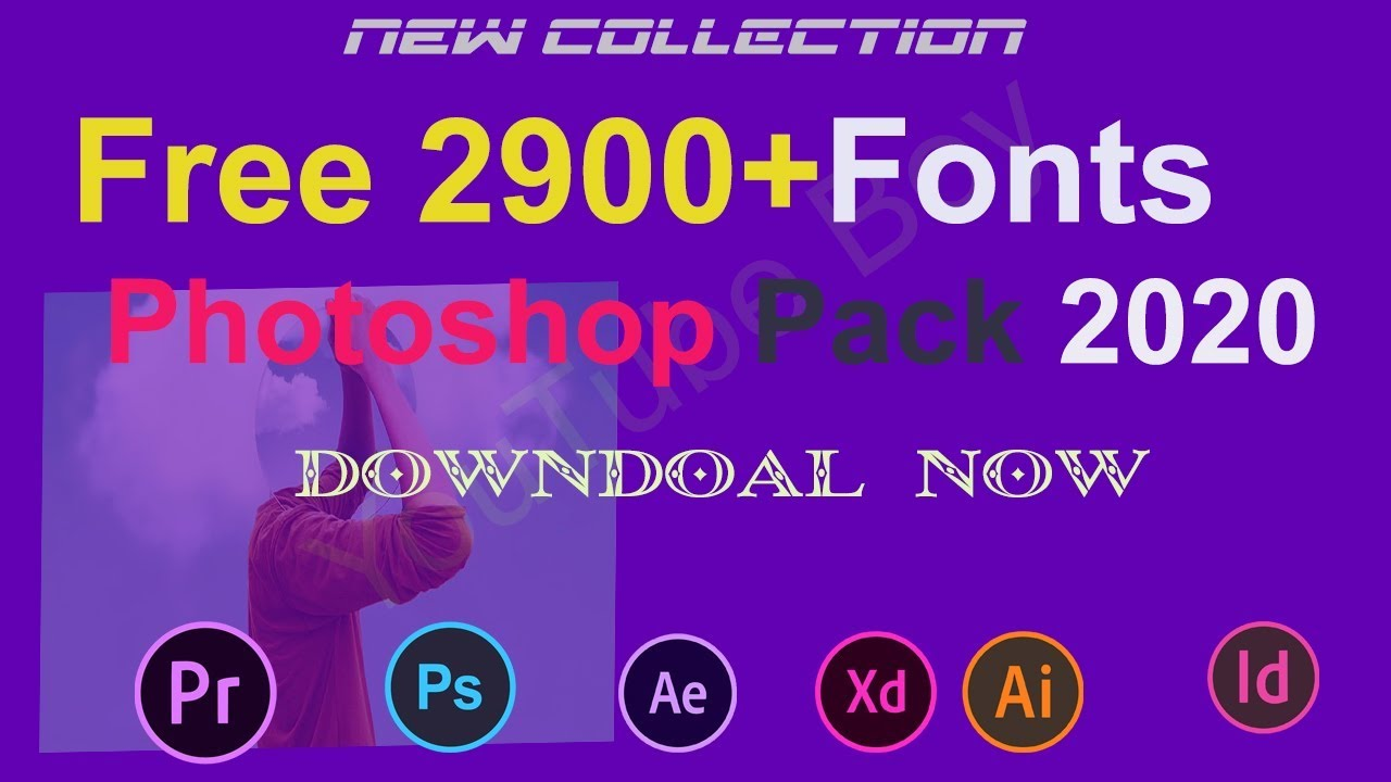 Download Free Fonts Pack 2900+ Fonts For Photoshop l 2020 Pack ...
