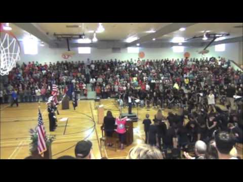 Sprayberry High School ROTC Performing at Daniell Middle School Veterans Day Assembly 2016