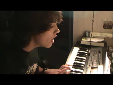 LEROY singing Broken Strings (with myself  XD) and playing my Piano