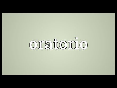 Oratorio Meaning