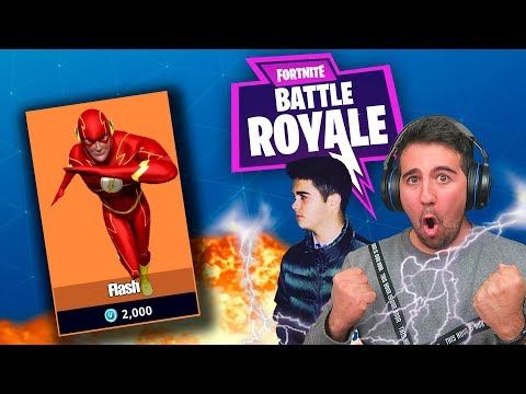 FLASH CHALLENGE EN Fortnite: Battle Royale! CON MI PRIMO ! - ElChurches