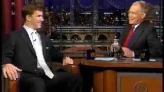 Eli Manning - Letterman Arpil 2004
