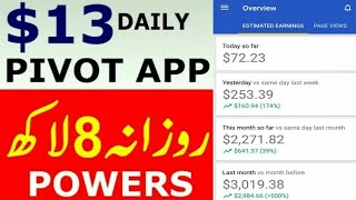 New Trick To Earn Unlimited Money On Pivot (Banned account Unbanned)    By JUTT TRICKS