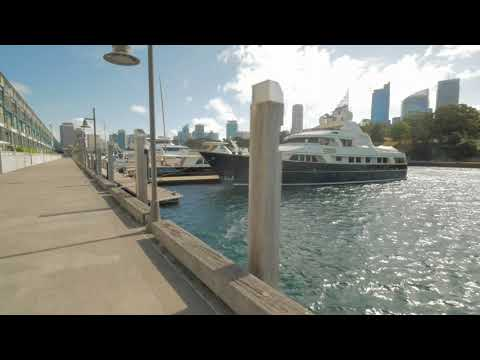 Sydney Video Walk 4K - Woolloomooloo Wharf to Mrs Macquarie's Chair Spring 2017
