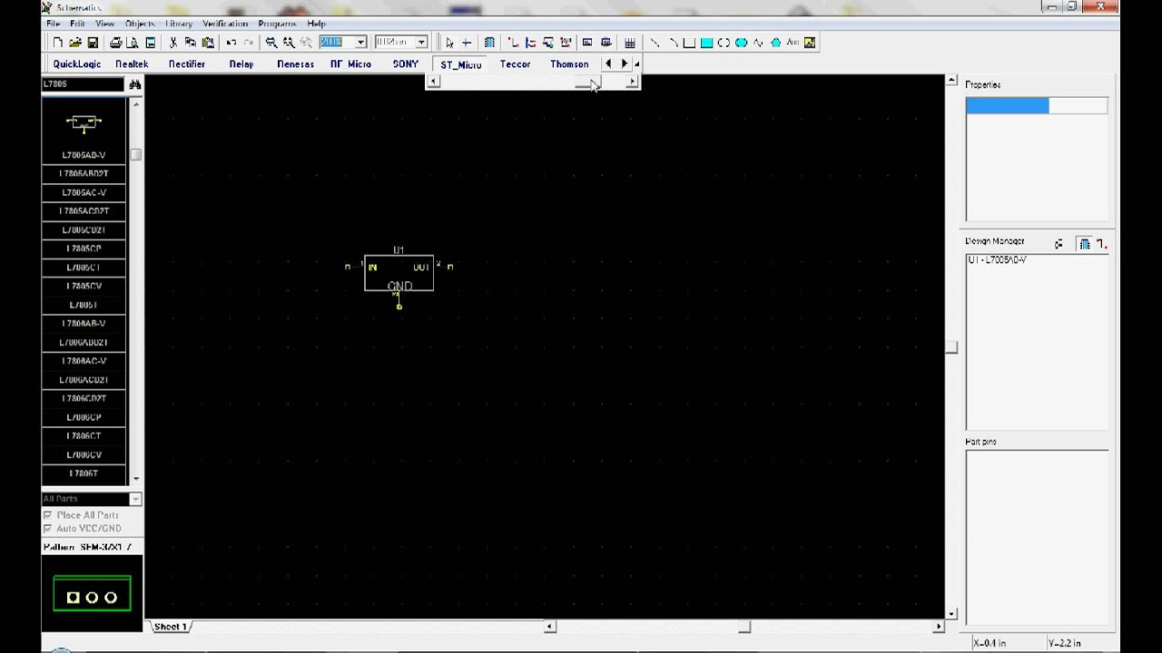 Diptrace Tutorial: Making a schematic on