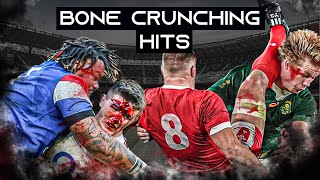 Bone Crunching Rugby Hits  Big Hits and Bump Offs in Rugby