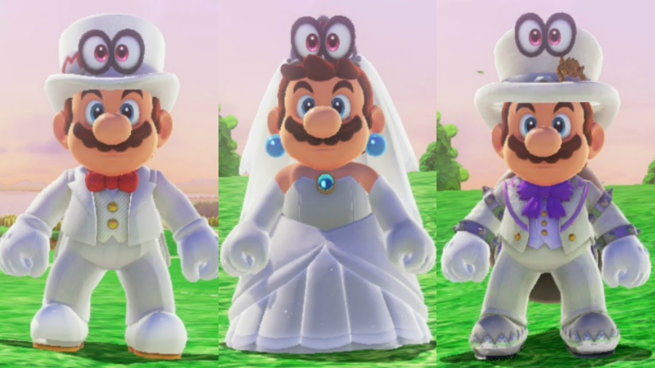 Super Mario Odyssey Wedding Mario Peach And Bowser Amiibo Costumes
