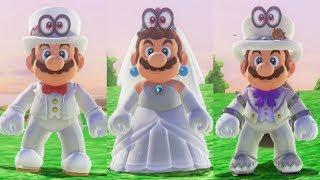 Super Mario Odyssey - Wedding Mario, Peach, and Bowser Amiibo Costumes