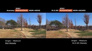 소니 액션캠 AS50 vs AS300 손떨방 종합 비교