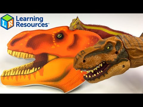 JUMBO DINOSAUR FLOOR PUZZLE T-REX & SKELETON FROM LEARNING RESOURCES LEARNING ESSENTIALS - UNBOXING