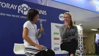 東レPPOテニス公式Youtubeチャンネル_選手Q&A エリナ・スビトリナ選手 ダニエラハンチュコバ 検索動画 19