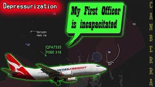 [REAL ATC] Qantas suffers depressurization | Pilot becomes incapacitated