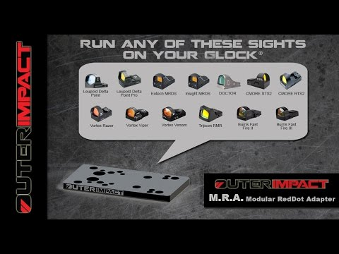 Install any of the following Red Dot Sights on your Glock! Trijicon,  Vortex, Leupold, Burris, etc
