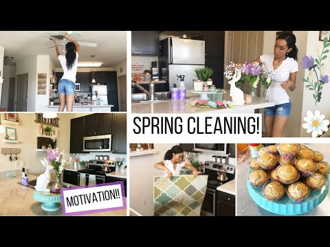 SPRING CLEANING MOTIVATION // CLEAN WITH ME // CLEANING ROUTINE // SAHM