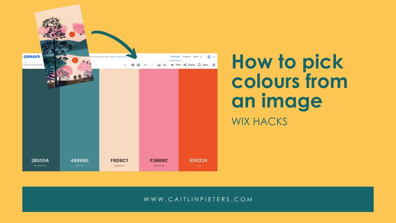 How to pick colours from an image