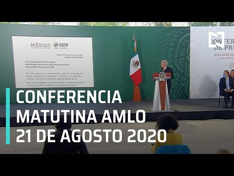 Conferencia matutina AMLO / 21 de agosto de 2020